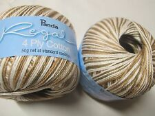 PANDA REGAL COTTON 4 PLY 50 GRS 10 BALLS BEIGE MIX ON SALE,NO R 10,DISC COLOUR