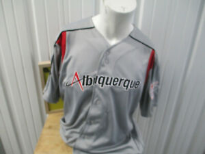 VINTAGE OT TEAMWEAR Albuquerque Isotopes XL SEWN JERSEY PCL MINOR LEAGUE TRIPLE