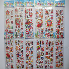 5 sheets Christmas Stickers Kids Xmas Craft Gift Card-Making Home Decoration NEW