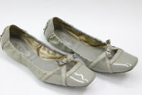 TOD'S women shoes sz 8.5 Europe 39 gray patent leather S7682