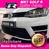 VW Golf R MK7 Sticker Lower Splitter Gloss black Vinyl Overlay - Sticker - Decal