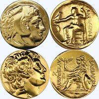 Alexander the Great, 2 Greek Coins, Percy Jackson Fans, Greek Mythology (1+34-G)
