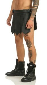 Gladiator Rock Kilt Echt Leder 1 Gürtel Schnallen A Legionär Clubwear 4XL - 8XL