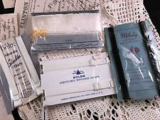 LOT OF 4 PACKAGES OF VINTAGE NYLON & RAYON UNDERGARMENT STRAPS & FINISHING ITEMS