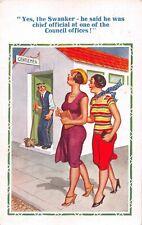 EMPIRE EXHIBITION GLASGOW 1938 POSTMARK ON COMIC POSTCARD To Swaffham