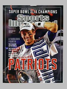 "Sports Illustrated Tom Brady Patriots Super Bowl Champions Large Poster 18"" x 24"