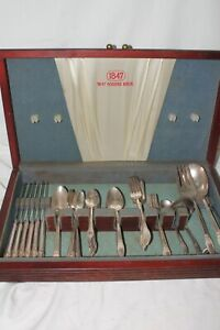 50 Pieces 1847 Rogers Bros. First Love Silverplate Flatware w/Box