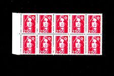 FRANCE ** n° 2715b / BLOC 10 exemplaires / SANS PHOSPHORE / MARIANNE / MNH /TTBE