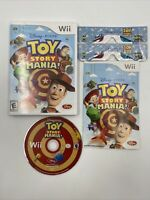 Toy Story Mania Nintendo Wii Video Game Complete with 3D Glasses Tested CIB