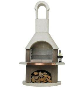 Buschbeck Outdoor Fireplace BBQ Pizza Oven Wood Patio Heater St Moritz