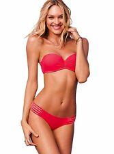 Strappy Bandeau Bikini~Size M~Opt Strap/Underwire Padded~Baywatch Red