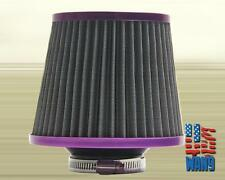 3 inch Purple Inlet Mesh Short Ram Cold Air Intake Round Cone Air Filter KN Type