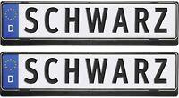 Zwei Stück Schildhalter HP Kennzeichenhalter 2 x Nummernschild Halter HOCHGLANZ