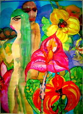 ORCHID  LIFE,5 Original Watercolor Painting