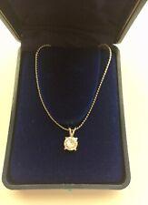 Vintage Vanderbilt Jewel faux diamond solitaire necklace in original box
