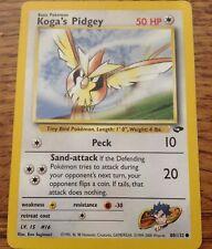 Pokemon Cards - Koga's Pidgey #80/132 GYM CHALLENGE set [NM+] (2000)