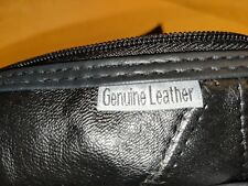Black Leather Tote / Purse, NWT.