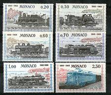 MONACO 1968 STEAM AND DIESEL TRAINS COMMEMORATIVE SET SG 914 / 9 MNH