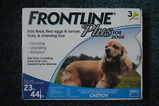 Frontline Plus for Dogs Flea and Tick Medicine Medium 23-44 lbs. 3 Month Supply