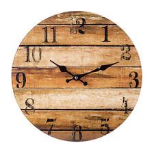 Stock Wanduhr ca. 33,5 cm Glasuhr runde analoge Glas Wand Uhr