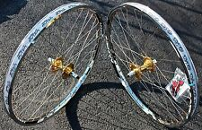 BMX BICYCLE WHEEL SET SUN TNT BICYCLES CHROME / GOLD, REVOLVER, 24 inch - NEW