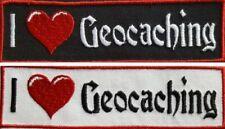 I love Geocaching Aufnäher Patch gestickt 12x3,5cm (916)