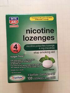 Rite Aid Nicotine Lozenges 4mg, 108 Mint Lozenges, Exp. 12/2021