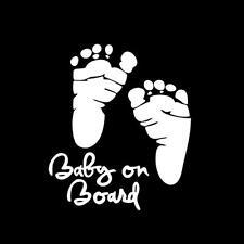 Füße Fußspuren Baby on Board/an Bord/Tour Auto Aufkleber Sticker Fenster Dekor