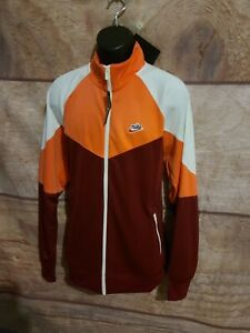 NIKE Sportswear Windrunner Woven Jacket Mens L Large BV2625-678 Orange/Maroon