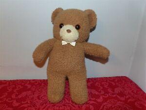 """RARE Vintage 1988 KinderGund 12"""" Brown Teddy Bear with Rattle Kinder Gund (*g2)"""