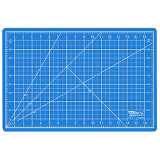 """12"""" x 18"""" PINK/BLUE Self Healing 5-Ply Double Sided Durable PVC Cutting Mat"""
