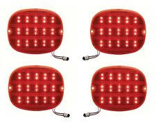1990-96 Chevy Corvette C4 ZR1 Red LED 1157 Rear Tail Lights Brake Lamp Lens Set