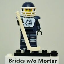 New Genuine LEGO Hockey Player Minifig with Hockey Stick and Puck Series 4 8804