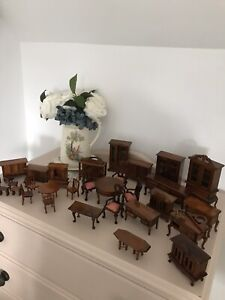 Dolls House Furniture Bundle Job Lot 34 Pieces Wooden Furniture