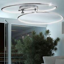 LED 40W DESIGN Decken Ringe Lampe Design Leuchte Chrom Wohn-Schlaf-Zimmer Licht