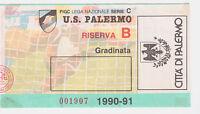 54356 Biglietto stadio 121 - Palermo Giarre - 1990/1991