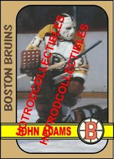 1972-73 TOPPS OPC O Pee Chee Custom John Adams Boston Bruins NHL #562