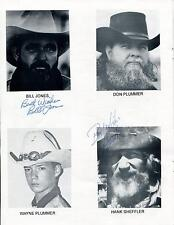 HANK SHEFFLER & BILL JONES SIGNED PHOTO PAGE AUTOGRAPH OLD WEST FESTIVAL PROGRAM