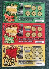 Chinese Year of the OX    Instant SV Lottery Ticket Set