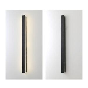 LED Wall Lights Modern Linear Sconce Light Bedroom Fixture Lamp Indoor Outdoor