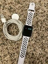 Apple Watch 42mm Stainless Steel Case White Sport Band - (MJ3V2LL/A)