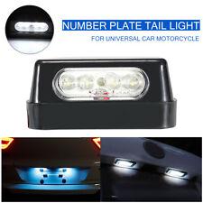 Luce targa Tbest LED targa universale 12V per moto Luce LED bianca impermeabile nero