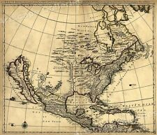 1680s Early Map of North America - New Mexico - English Empire - 20x24