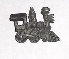 "Vintage 1 1/4"" Metal Caboose Cap Hat Lapel Collectible Railroad Train Pin"