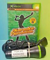 Karaoke Revolution & Microphone Bundle - Microsoft XBOX OG Game - Complete