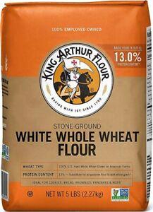 King Arthur Stone-Ground White Whole Wheat Flour 5 LB