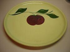 Vintage Watt Pottery # 49 3 Leaf Apple Chop Plate
