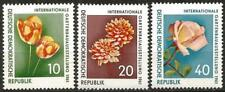 Germany (East) DDR 1961 MNH Flowers Int Horticultural Exhibit Rose Tulips Dahlia