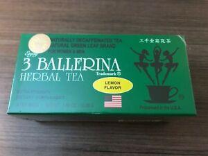 1 Box of 18 Tea Bag Diet Tea Men/Women Drink Extra Strength, 3 Ballerina, Lemon