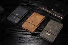 Real Genuine Flip Leather Purse Wallet Card Case Cover For OPPO Xiaomi HTC SONY
